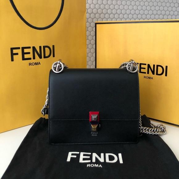 Authentic Fendi Kan I Leather bag